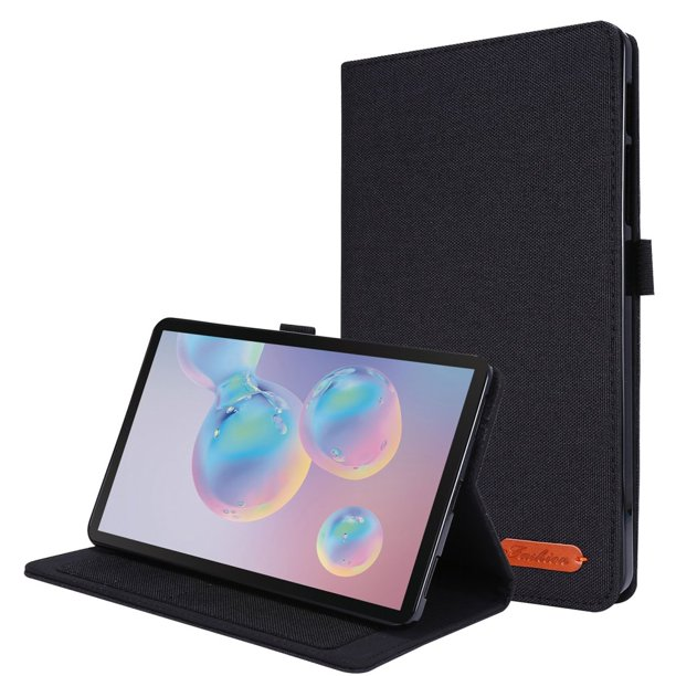 Samsung Galaxy Tab A 8.4 2020 Flip Case, AMZER Fabric Texture Multi-Angle Horizontal Folio Cover with Holder For Samsung Galaxy Tab A 8.4 (2020) - Black