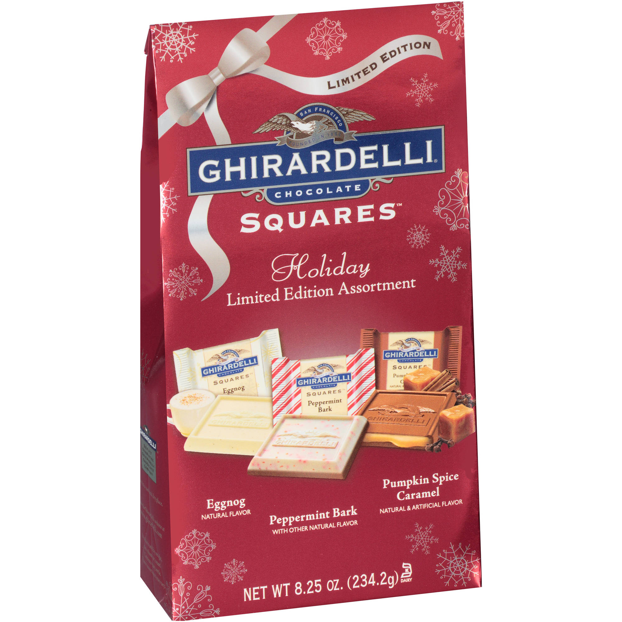 Ghirardelli Holiday Limited Edition Assortment Chocolate Squares Holiday Gift, 8.25 oz