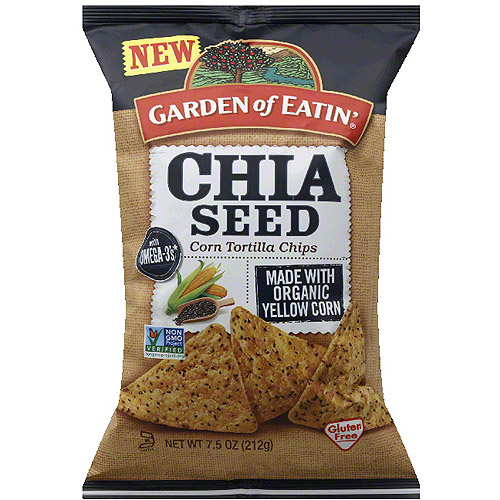 Garden Of Eatinu0027 Chia Seed Corn Tortilla Chips, 7.5 Oz, (Pack Of