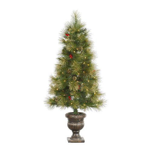 Vickerman 4.5 ft. Gold Glitter Pine Pre-Lit Christmas Tree