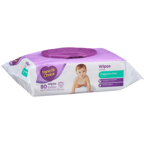 Parent's Choice Fragrance Free Baby Wipes, 80 sheets