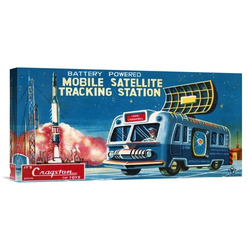 Global Gallery 'Mobile Satellite Tracking Station' by Retrotrans Vintage Advertisement on Wrapped Canvas