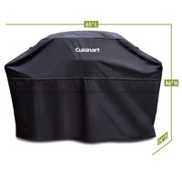 """Cuisinart® Heavy-Duty 65"""" Barbecue Grill Cover - Black, UV-Protected, Wind And Water Resistant, Dual Sided Vents"""