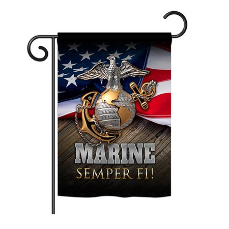 Angeleno Heritage - Marine Semper Fi Americana - Everyday Military Impressions Decorative Vertical Garden Flag 13