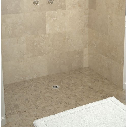 Tile Redi Triple Threshold Shower Base with Drain Plate