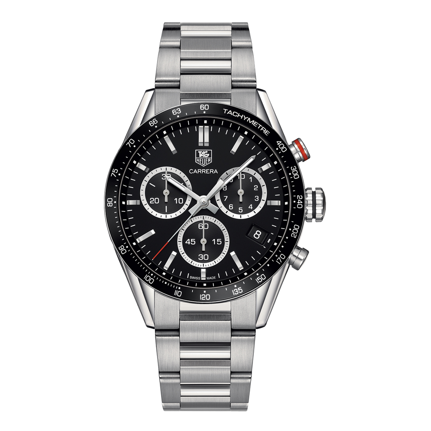 New Tag Heuer Carrera 43mm Chrono Date Quartz Mens Watch ...