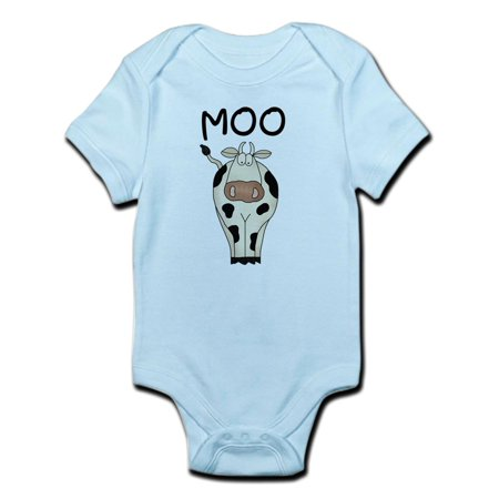Kids Cow Onesies (CafePress - Cow Says Moo Infant Bodysuit - Baby Light)