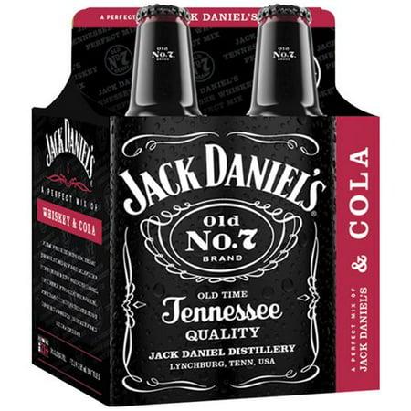 Jack Daniels Cola 4 Pack 12 Fl Oz Walmart Com