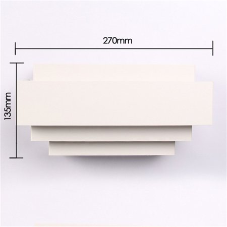Contemporary Indoor Up & Down Wall Light Curved White Square Lighting Lamp - image 3 de 6