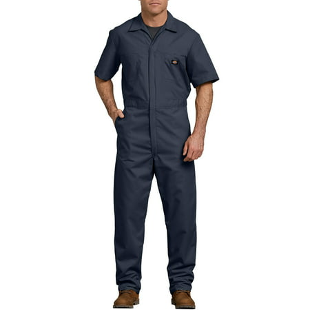 Men's Short Sleeve Deluxe Poplin Coverall (Coveralls Glasses)
