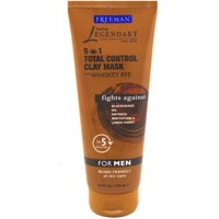 6 Pack - Freeman 5-In-1 Total Control Clay Mask For Men 6 oz