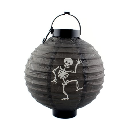 Halloween Skeleton Hanging Lamp with LED lighting Paper Lantern for Scary Party Decoration, - Scary Team Names For Halloween'