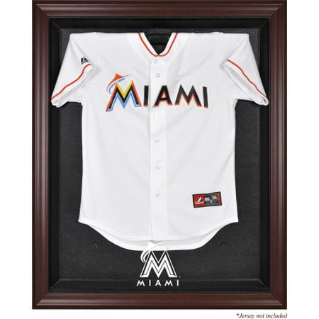 - Miami Marlins Fanatics Authentic Mahogany Framed Logo Jersey Display Case - No Size
