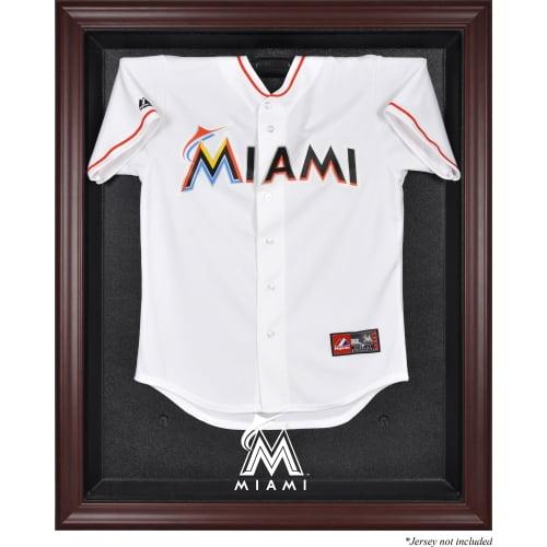 Miami Marlins Fanatics Authentic Mahogany Framed Logo Jersey Display Case - No Size