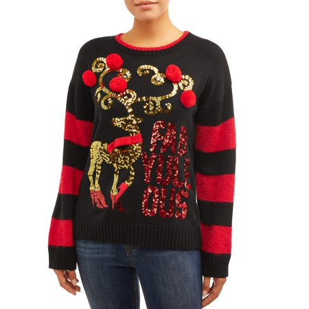 Women's FabYuleOus Christmas Pullover Sweater Acrylic Colored Sweater