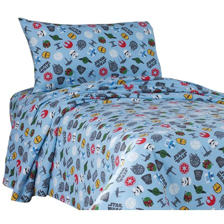 Star Wars 4 Piece Full Size Bed Sheets Heavyweight Cotton Flannel
