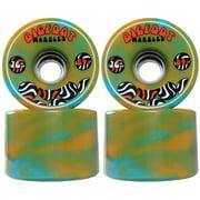 Bigfoot Longboard Wheels - 76mm Swirl Orange/Blue