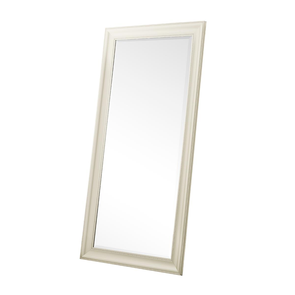 Beaded Framed Floor Mirror Silver 66 X 32 By Naomi Home Walmart Com Walmart Com