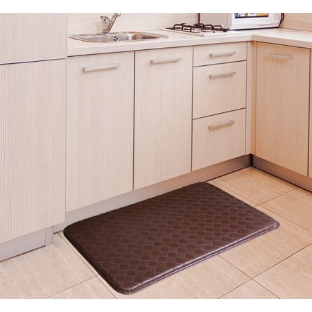 Anti-Slip and Anti-Fatigue Comfort Memory Foam Kitchen Mat - Brown