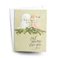 DaySpring  -  Anniversary - Owl Always Love You - 3 Premium Studio 71 Cards