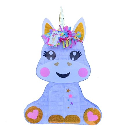 APINATA4U Baby Unicorn Pinata 2-D Magical Unicorn Theme Party Favor - Diy Pinata Halloween