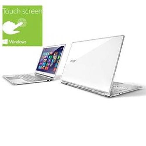 "Acer White 13.3"" Touchscreen S7-391-6468 Ultrabook PC with Intel Core i5-3337U Processor and Windows 8 Operating System"