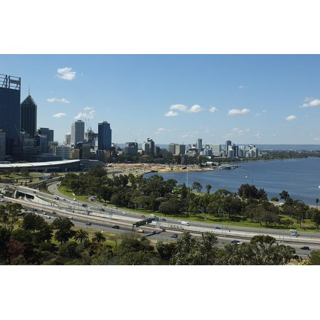 Canvas Print Skyline Australia Perth City Perth City Building Stretched Canvas 10 x 14](Perth City Halloween)
