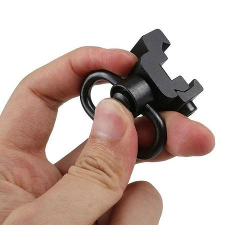 Rail Mount Sling Swivel (BALIGH Sling Swivels Mount Button Heavy Duty Quick Release Detach Sling Swivel Adapter Set Picatinny Rail Mount Base 20mm Link Ring Sling)