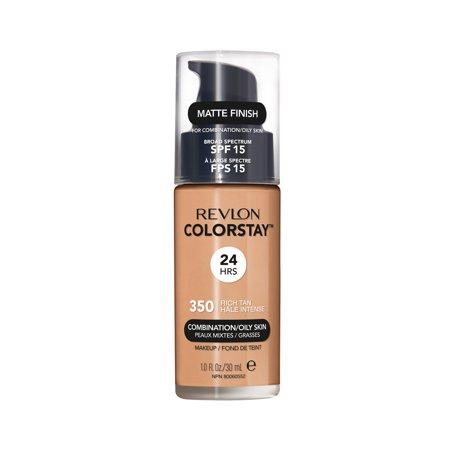 Revlon ColorStay™ Makeup for Combination/Oily Skin SPF 15, Rich Tan - Easy Halloween Makeup Dark Skin