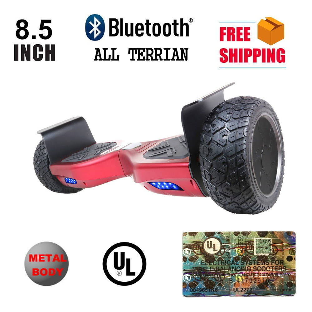 """Hoverboard 8.5"""" Metal All Terrin Bluetooth Speaker Two Wheel Self Balancing Electric Scooter"""