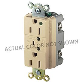 Eaton 8200BLS Hospital Grade TVSS Surge Protection Duplex Receptacle with LED Indicators and Switched Alarm, Blue Finish
