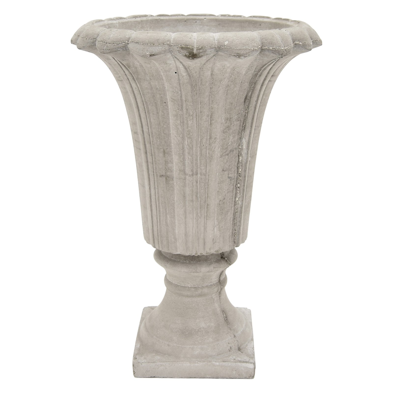 Three Hands Weathered Concrete Footed Garden Urn by Three Hands Corp.