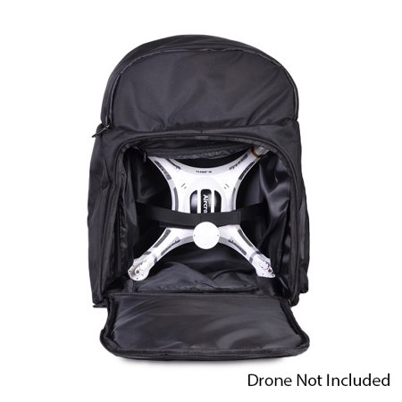 Quadcopter Protective Carrying Case Drone Backpack Water Resistant Black ()