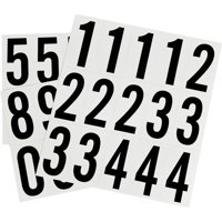 Hillman Group 842284 2 in. Black & White Glossy Vinyl Square Cut Self Adhesive Numbers