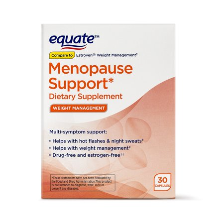 Equate Weight Management Menopause Support* Dietary Supplement Capsules, 30 Count