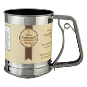 HIC 704 Kitchen Flour Sifter, 1 Cup, Stainless Steel