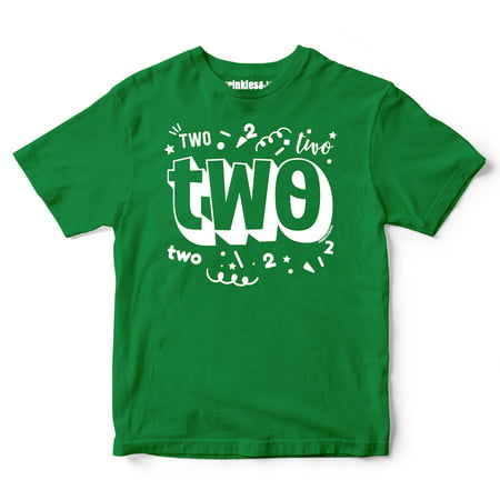 sprinkles and jam sprinkles and jam two confetti style boys 2nd birthday boy shirt slim fit birthday tshirt walmartcom