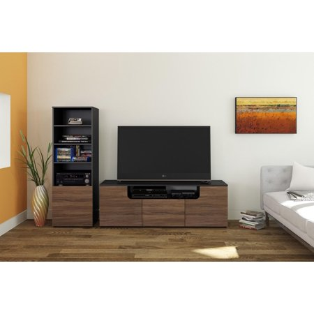 Next Entertainment Kit with 60-inch TV Stand & 1 Bookcase