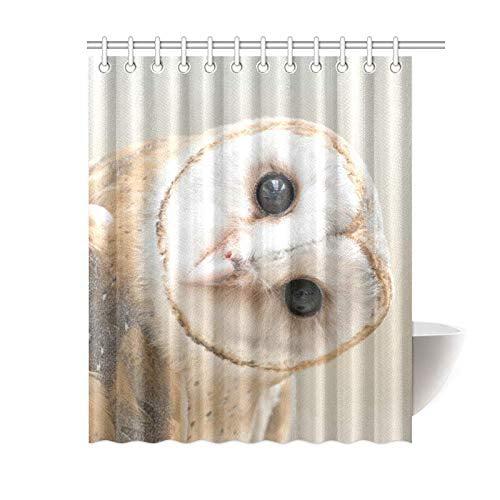 mkhert common barn owl shower curtain bath curtain waterproof fabric polyester curtains 60x72 inch