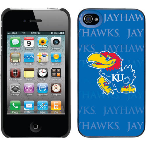 University of Kansas Repeating Design on iPhone 4s/4 Thinshield Snap-On Case by Coveroo