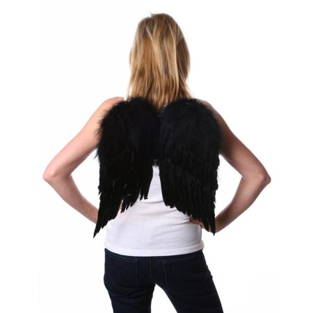 Zucker Feather Products Women's Medium Angel Wings - Black And White Angel Wings