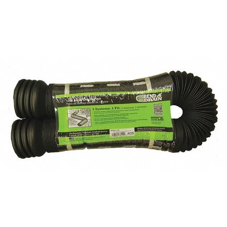 BEND-A-DRAIN Perforated Flexible Pipe,12 ft. L,HDPE (12 Drain Pipe)