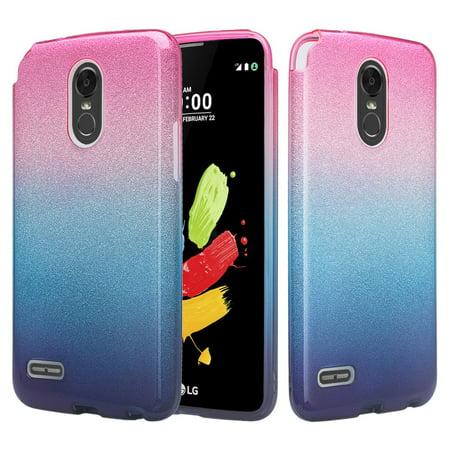 Slim Glitter Tpu Shinny Protective Phone Case for LG Aristo 2 Plus Case,  Aristo 2, LG Tribute Dynasty, Rebel 3, Zone 4 Case Cover - Hot Pink