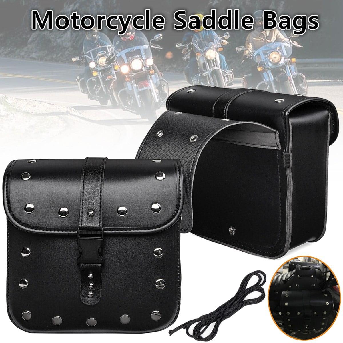 LN Black Universal Motorcycle Hard Saddlebag Saddle bags Trunk Bag Luggage