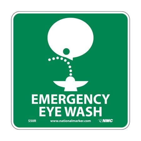 Emergency Eye Wash Wall Mount (EMERGENCY EYE WASH SIGN )