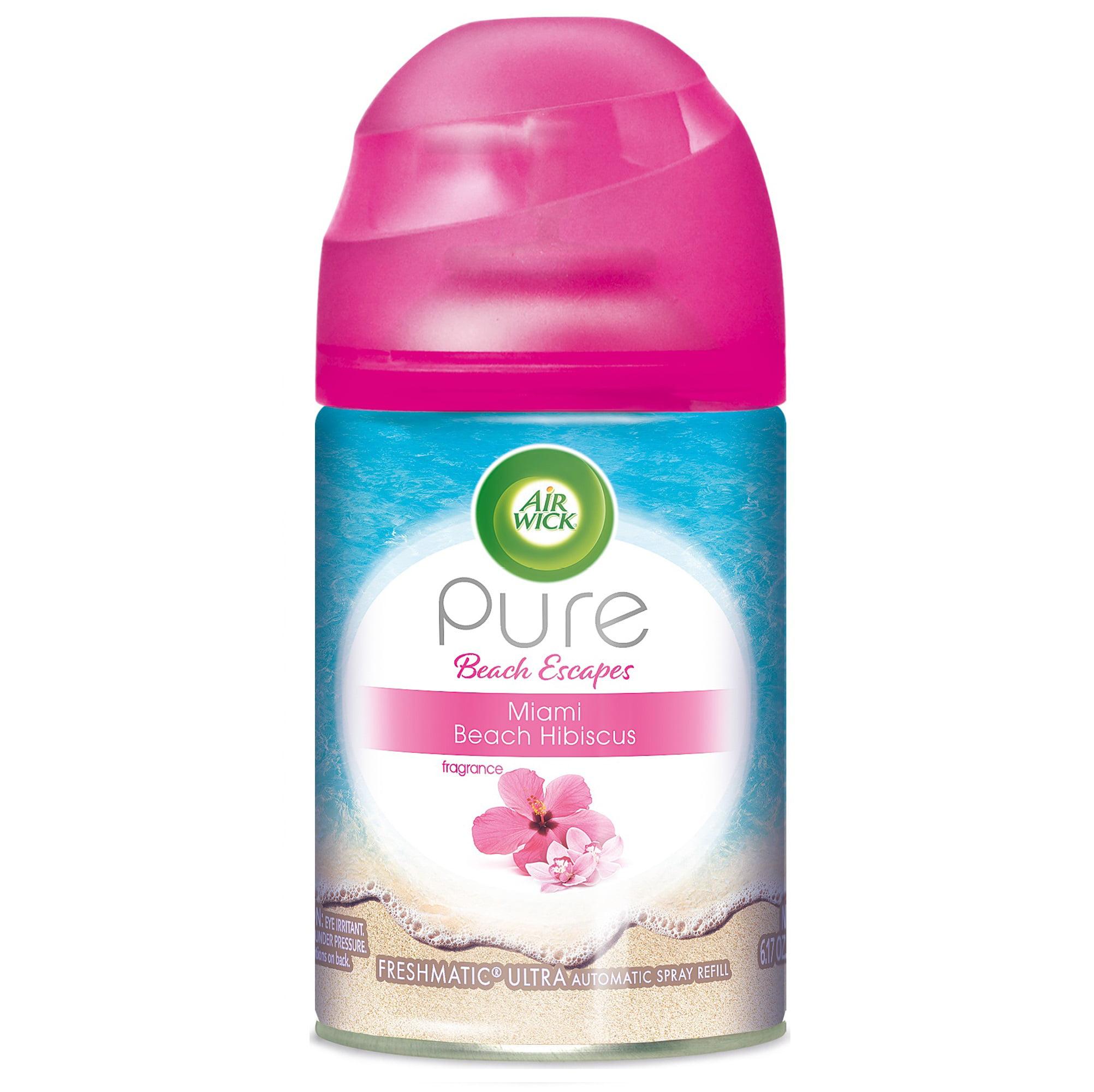 Air Wick Pure Freshmatic Refill Automatic Spray, Miami Beach Hibiscus, 6.17oz, Air Freshener