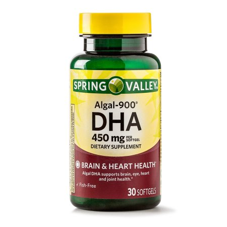 (2 Pack) Spring Valley Algal-900 DHA for Brain & Heart Health, 450 Mg, 30 Ct
