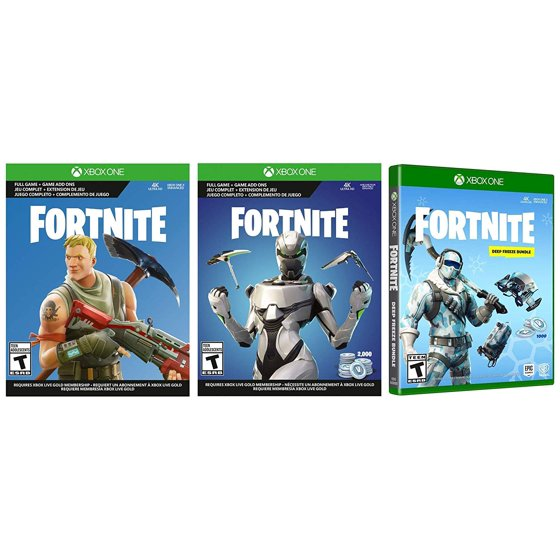 Xbox One Battle Royale Fortnite Eon Deep Freeze Bundle: 3000 V-Bucks, Eon  and Deep Freeze Two Epic Cosmetic Sets, Xbox One S 1TB Gaming Console with