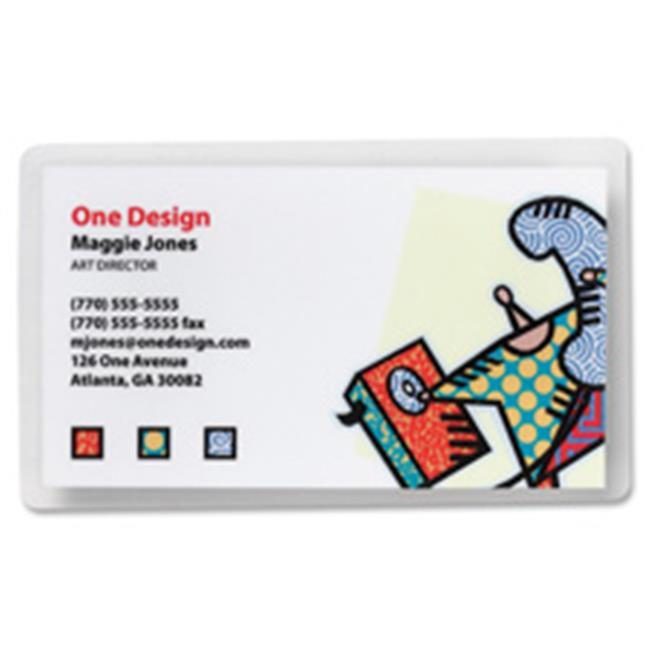 """Business Source 5 mil Business Card Laminating Pouches - Laminating Pouch/Sheet Size: 2.25"""" Width x 3.75"""" Length x 5 mil Thickness - for Business Card - Pre-trimmed, Moisture Resistant, Fade Resistant"""