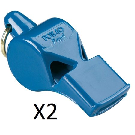 Pearl Sports and Safety Loud Marine Whistle, Blue (2 Pack), 90 Decibel Unique Pitch Will Be Heard Above Ambient Noise, Loud Crowds, The Roar Of.., By Fox - Ambient Pack